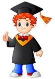 Graduación del muchacho de la historieta que da los pulgares para arriba Fotografía de archivo