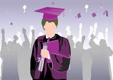 Graduación en silueta Fotos de archivo libres de regalías