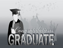 Graduación en silueta Foto de archivo