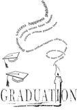 Graduación con el mortero y la vela Foto de archivo