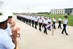 Graduación del guardacostas de los E.E.U.U. Fotos de archivo libres de regalías