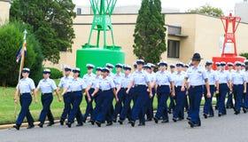 Graduación del guardacostas de los E.E.U.U. Imagen de archivo libre de regalías