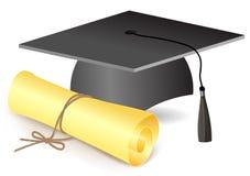 Graduaciones sombrero y grado Imágenes de archivo libres de regalías