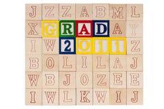 Graduado 2011 Fotografía de archivo libre de regalías