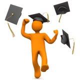 Graduado afortunado Fotografia de Stock