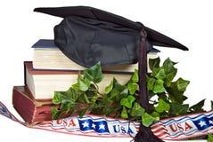 Graduado americano Imagenes de archivo