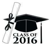 Graduado - classe de 2016 ilustração stock