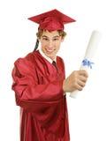 Graduado con el diploma Fotografía de archivo
