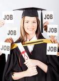 Graduado con ofertas de trabajo Imagenes de archivo