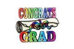 Graduado de Congrats Fotografia de Stock Royalty Free