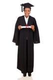 Graduado de faculdade no vestido Fotografia de Stock
