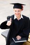 Graduado de la hembra Fotos de archivo libres de regalías