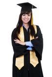 Graduado de la hembra Foto de archivo
