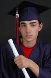 Graduado de la High School secundaria Fotos de archivo