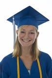 Graduado de la muchacha en vestido Fotos de archivo