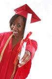 Graduado de la mujer Imágenes de archivo libres de regalías