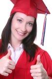 Graduado de la mujer Imagen de archivo libre de regalías
