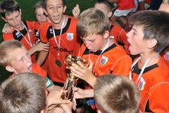 Graduado de Novi - juego de fútbol de la juventud de Tuzla Imágenes de archivo libres de regalías