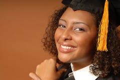 Graduado de risa feliz Foto de archivo