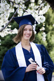 Graduado de sorriso Fotos de Stock Royalty Free