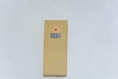 Graduado del zeigt 30 del termómetro Foto de archivo libre de regalías