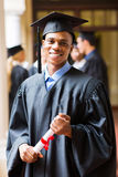 Graduado do afro-americano fotografia de stock royalty free