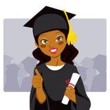 Graduado do americano africano ilustração royalty free