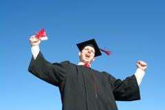 Graduado do macho Imagem de Stock