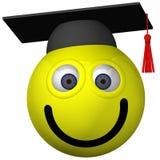 Graduado do smiley ilustração stock