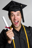 Graduado Excited Foto de Stock Royalty Free