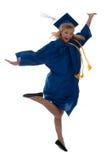 Graduado feliz Imágenes de archivo libres de regalías