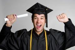 Graduado feliz Fotografía de archivo libre de regalías
