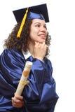 Graduado feliz de la universidad Imagen de archivo libre de regalías