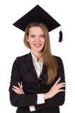 Graduado joven aislado Imagen de archivo libre de regalías