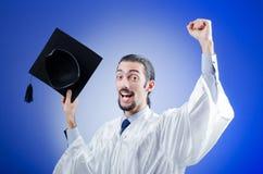 Graduado joven del estudiante Foto de archivo libre de regalías