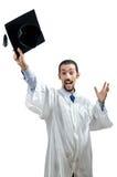 Graduado joven del estudiante Fotografía de archivo