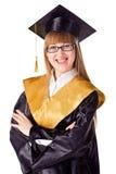 Graduado joven feliz Imagen de archivo libre de regalías