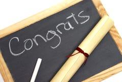 Graduados de Congrats imagen de archivo