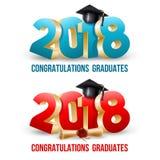 Graduados de la enhorabuena ilustración del vector