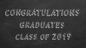 Graduados de la enhorabuena Clase de 2019 ilustración del vector