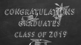 Graduados de la enhorabuena Clase de 2019 stock de ilustración