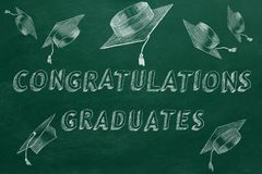 Graduados de la enhorabuena libre illustration