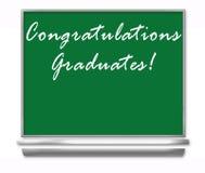 Graduados de la enhorabuena - pizarra de la escuela Foto de archivo libre de regalías
