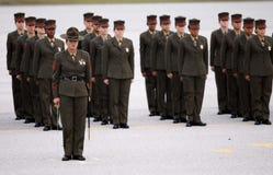 Graduados femeninos del Cuerpo del Marines de Estados Unidos Imagenes de archivo