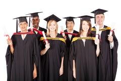 Graduados multirraciales Fotografía de archivo