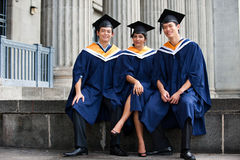 Graduados novos Imagens de Stock Royalty Free
