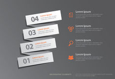 Gradual Infographic Elements Royalty Free Stock Photo