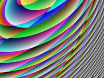 Gradual multicolored curves Royalty Free Stock Photography