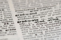 Graduate. Definition from old Dictionary Royalty Free Stock Photos