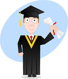 Graduate. Vector cartoon character series - graduate Royalty Free Stock Photography